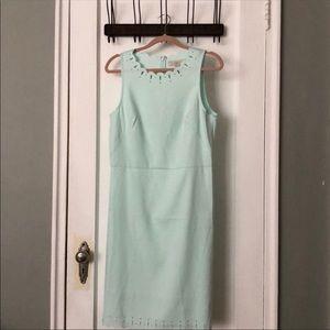 NWOT Loft mint green dress 10 Tall